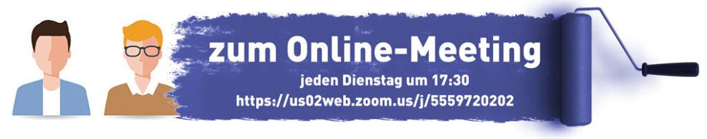 Online-Meeting für Technische Redakteure. Jeden Dienstag um 17:30 mit Zoom